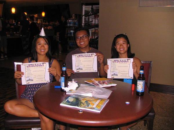 Cosplay Photograph - Three Happy Graduates by Jim Williams