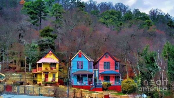 Three Houses Hot Springs Ar Art Print