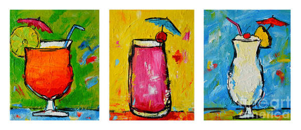Painting - Three In A Row Happy Hour Time by Patricia Awapara