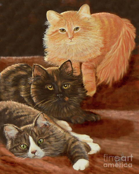 Digital Art - Three In A Row by Marilyn Smith