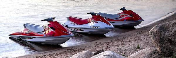 Photograph - Three Jet Skis 23 by Jerry Sodorff