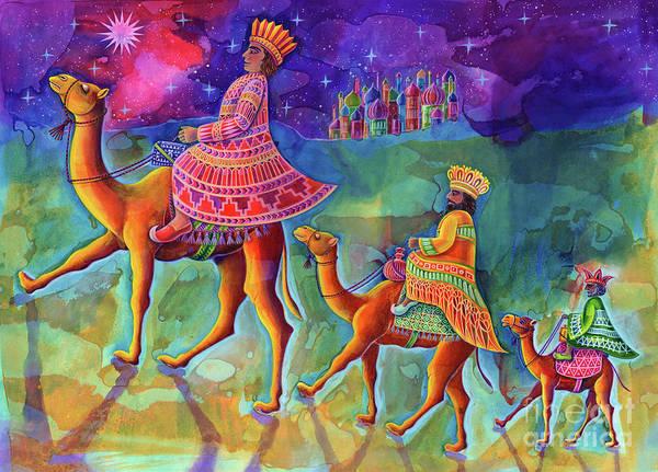 Bethlehem Wall Art - Painting - Three Kings by Jane Tattersfield