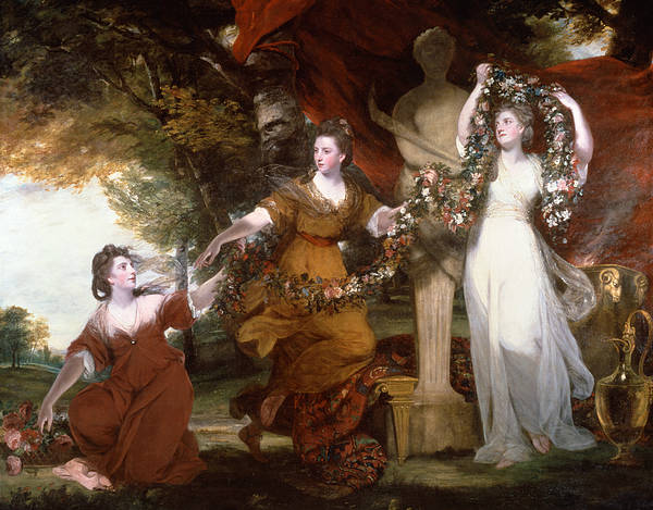 Painting - Three Ladies Adorning A Term Of Hymen by Joshua Reynolds