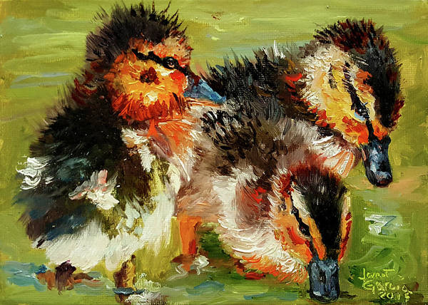 Painting - Three Little Ducks by Janet Garcia