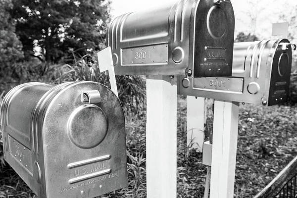 Three Mailboxes Art Print