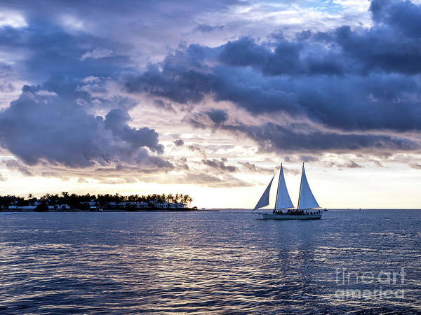 Photograph - Three Masts At Sunset In Key West by John Rizzuto