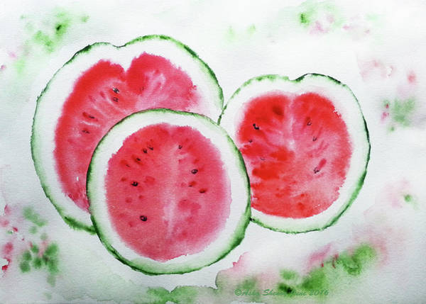 Painting - Three Melons by Asha Sudhaker Shenoy