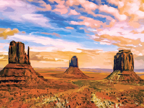 Painting - Three Mesas by Dominic Piperata