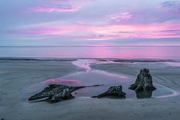 Jekyll Island Photograph - Three Minute Sunrise by Jon Glaser