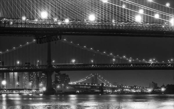 Three New York Bridges 2 Art Print