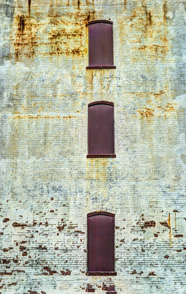 Photograph - Three Non Windows On Textured Wall by Gary Slawsky