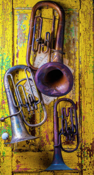 Wall Art - Photograph - Three Old Tubas by Garry Gay