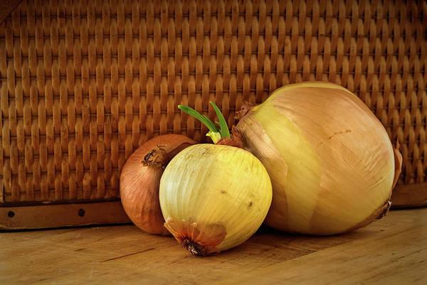 Photograph - Three Onions by  Onyonet  Photo Studios