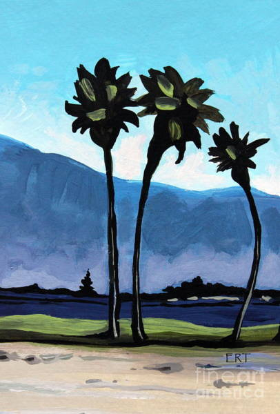 Painting - Three Palm Trees by Elizabeth Robinette Tyndall