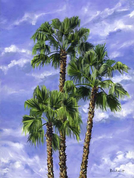 Wall Art - Painting - Three Palms by Lisa Reinhardt
