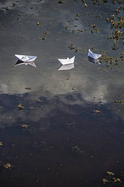 Wall Art - Photograph - Three Paper Boats by Joana Kruse