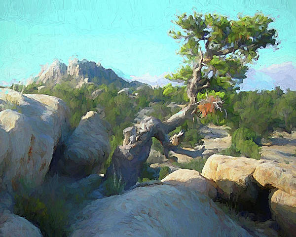 Digital Art - Three Peaks View by David King