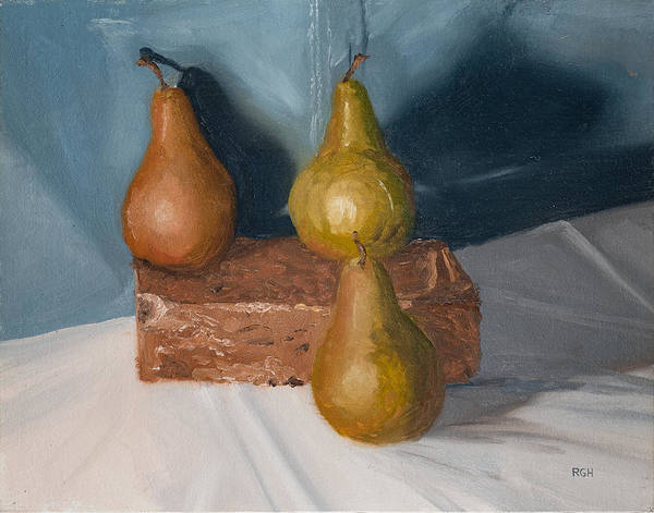 Painting - Three Pears by Break The Silhouette