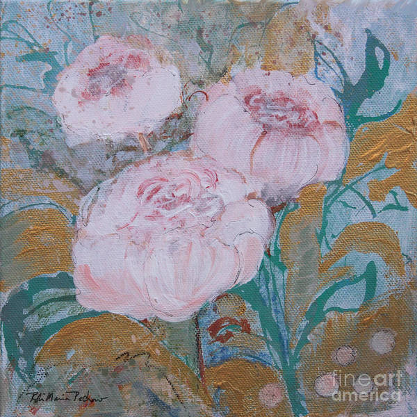 Painting - Three Peonies  by Robin Maria Pedrero