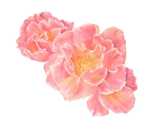 Three Pink Roses Art Print