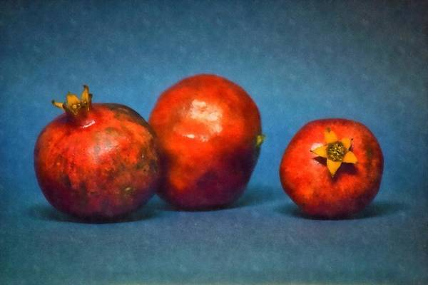 Wall Art - Photograph - Three Pomegranates by Frank Wilson