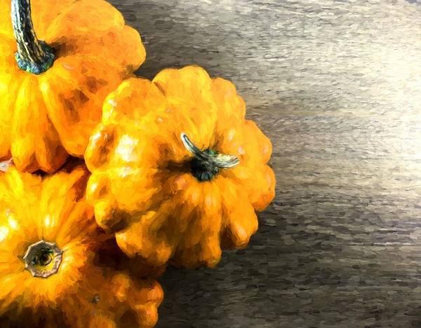 Photograph - Three Pumpkins On Wood by John Williams