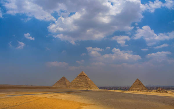 Photograph - Three Pyramids Of Giza by Julis Simo