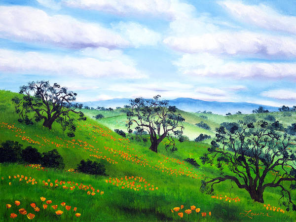 California Hills Painting - Three Queens by Laura Iverson