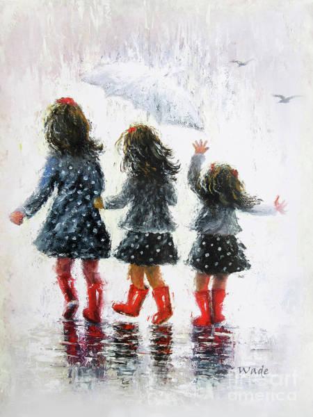 Wall Art - Painting - Three Rain Sisters by Vickie Wade