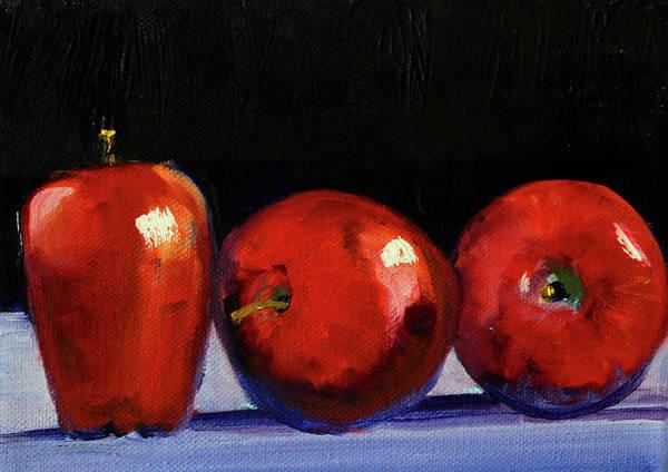Wall Art - Painting - Three Reds by Nancy Merkle