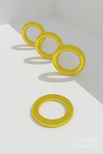 Digital Art - Three Rings Standing by Clayton Bastiani
