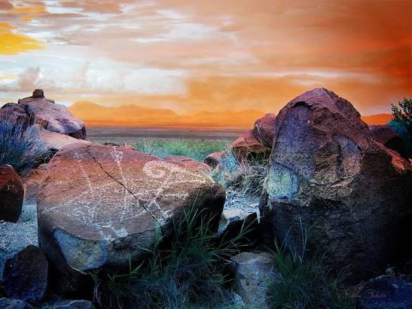 Three Rivers Petroglyphs Art Print
