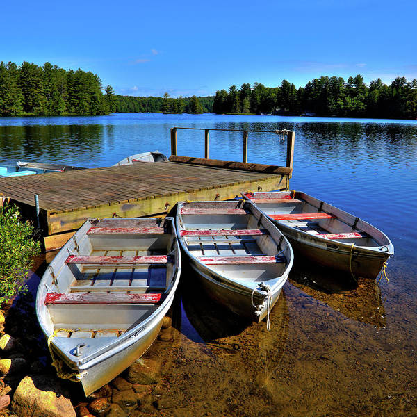 Photograph - Three Rowboats by David Patterson