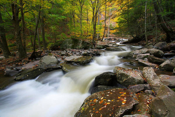 Catskills Photograph - Three Seconds In Fall by Neil Shapiro