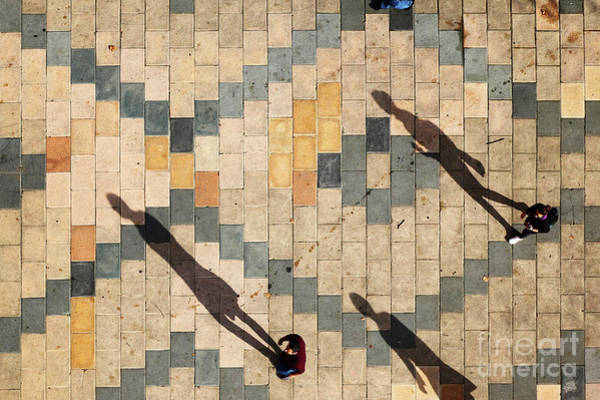 Photograph - Three Shadows Bilbao by James Brunker