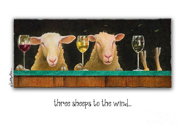 Painting - Three Sheeps To The Wind by Will Bullas