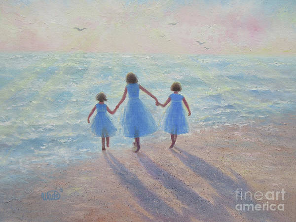Wall Art - Painting - Three Sisters Beach by Vickie Wade