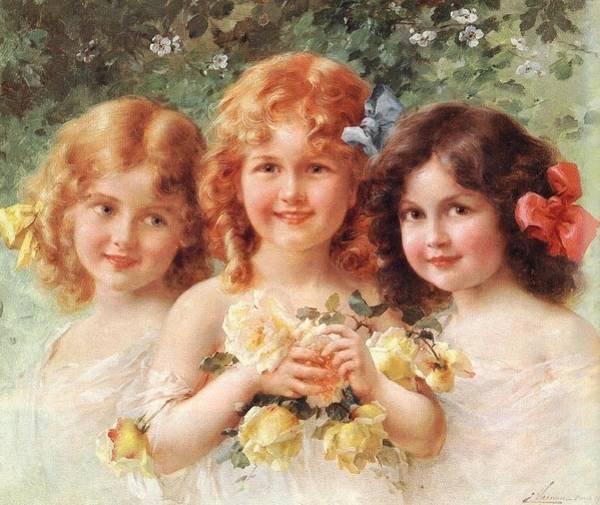Wall Art - Digital Art - Three Sisters by Emile Vernon