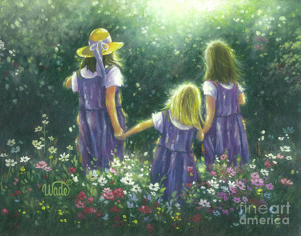 Wall Art - Painting - Three Sisters Forever Friends by Vickie Wade