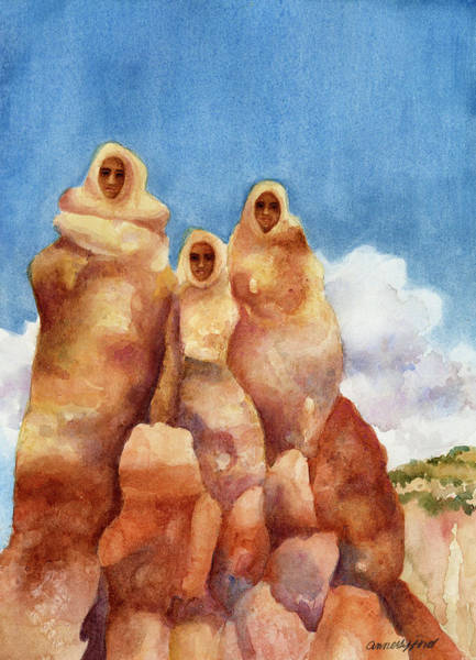 Painting - Three Sisters Of Ghost Ranch by Anne Gifford
