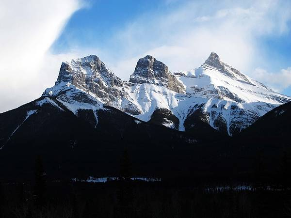 Canmore Photograph - Three Sisters by Steve Parr