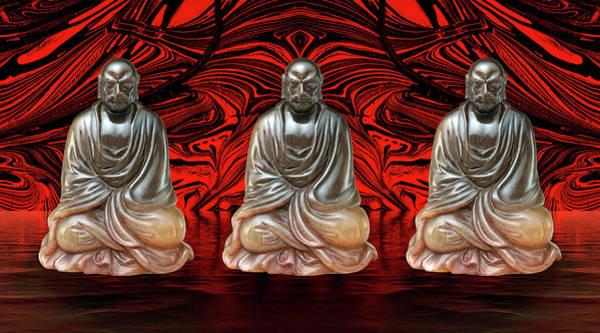 Photograph - Three Smiling Buddha by John Williams