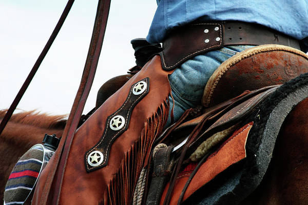 Wall Art - Photograph - Three Stars, Leather And Denim by Toni Hopper