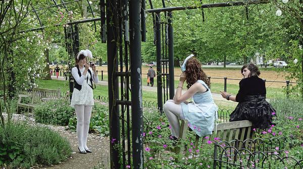 Photograph - Three Teenagers, London 2009 by Chris Honeyman