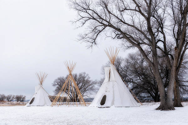 Photograph - Three Tipis by Angela Moyer