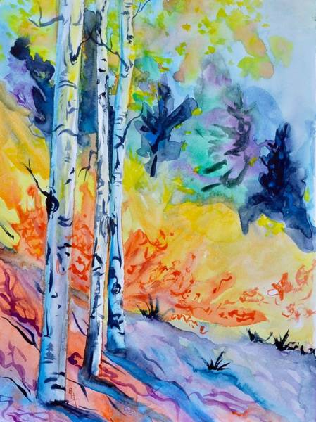 Painting - Three Trees by Beverley Harper Tinsley