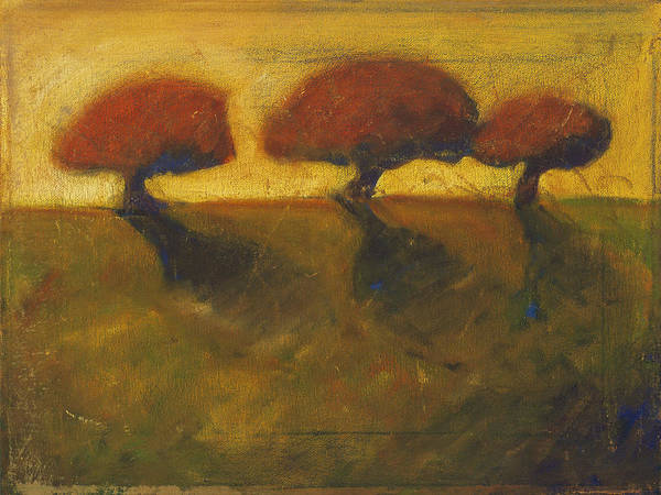 Painting - Three Orange Trees by Konnie Kim