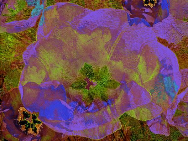 Digital Art - Three Tulips 24 by Lynda Lehmann