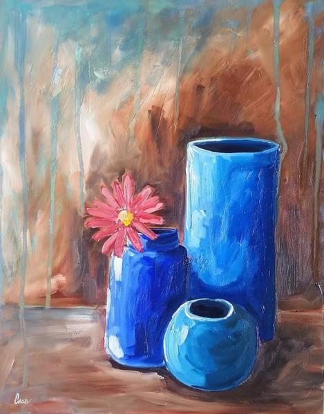 Wall Art - Painting - Three Vases by Katrina Case