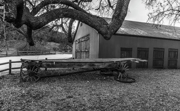 Photograph - Three Wheels No Spare - Black And White by Gene Parks